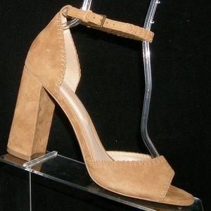 ALDO 'Elvyne' brown suede ankle strap heels 9 EU40